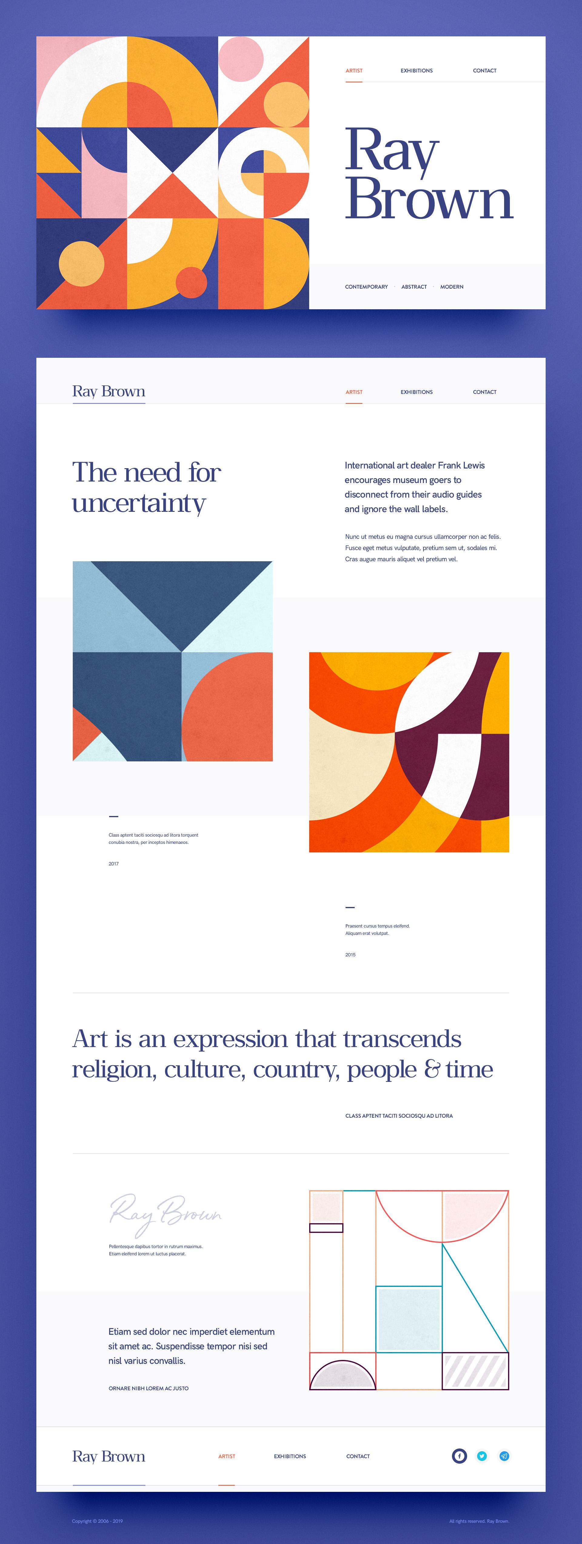 Web site design portfolio artist designer