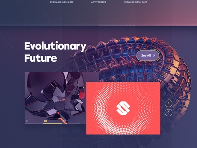 SE.NGI / Quantum Cloud Mining homepage landing exchange crypto currency site ethereum blockchain icon ux ui logo navigation typography illustration web design