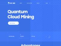 Wireframe mining quantum bitcoin blockchain web design site