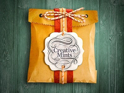 Package icon package illustration site present free special paper old vintage typography sketch rope wood
