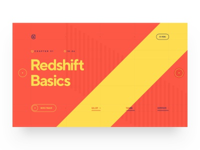 Redshift Basics / Patreon web design navigation tutorial glow cinema4d glass cinema 3d typography illustration web design