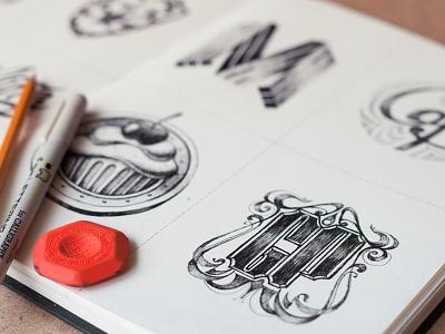Logos  2012  logotype sketch book pencil portfolio branding typography lettering graphic art 2012