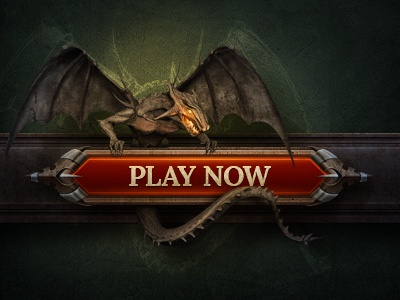 Dragon button ui shine texture icon wing fire game interface character illustration wall stone sketch dragon metal