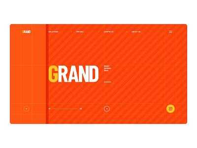 GRAND / Graphic Design geometry site portfolio ux ui branding minimal flat 3d paper typography illustration web design