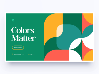 Colors Matter / Patreon site ux ui minimal geometry tutorial flat branding vector typography illustration web design sketch