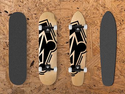 Skateboards Mockup Design  #1 griptape classic wood black longboards longboard mockup design skateboards skateboard
