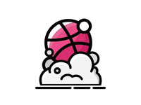 Sticker Mule Dribbble Sticker Pack Playoff