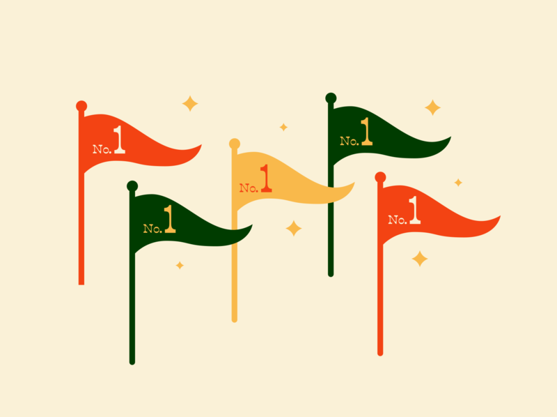 He was #1 type vector design stars winner award number 1 flags illustration