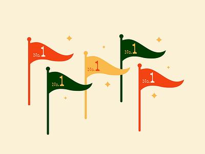 He was #1 type vector design stars winner award number 1 flags illustration