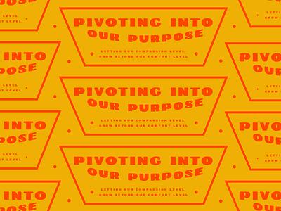 Pivot purpose pivot icon badge vector sticker vintage two tone type lockup typography