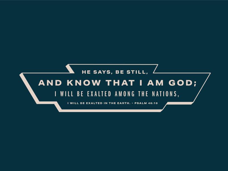 Be Still psalms bible verse retro vector vintage sticker type lockup badge design typography
