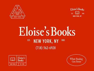 Eloise's Books city new york book store books illustration branding type design lockup logo typography