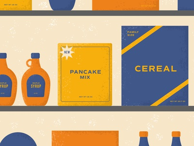 Breakfast Goodies texture vector packaging breakfast design illustration