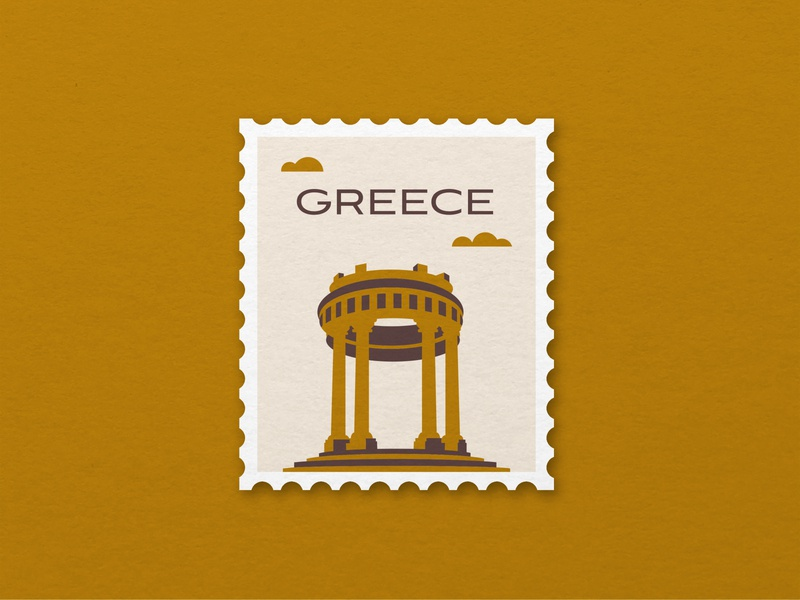 Greece - Weekly Warmup #10 design vector architecture columns texture greece stamp illustration weeklywarmup