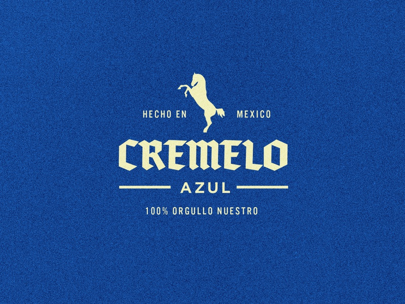 Cremelo Azul Lockup texture sticker illustration typography design type mockup lockup branding logo