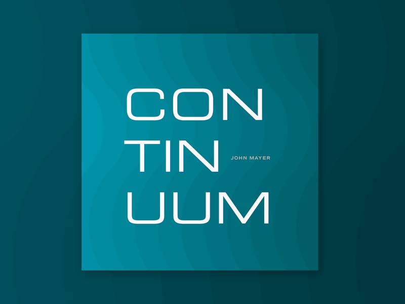 Continuum design typography blues gradient waves mayer john guitar record vinyl music album continuum