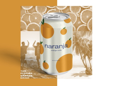 Naranja - Orange Soda mockup vector lockup logo illustration branding beach florida soda orange