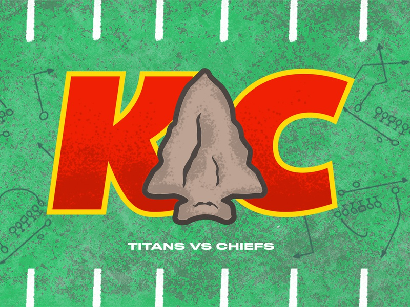 Chiefs kansas arrowhead illustration typography plays grass football kansas city chiefs