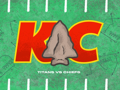 Chiefs kansas arrowhead illustration typography plays grass football kansas city chiefs