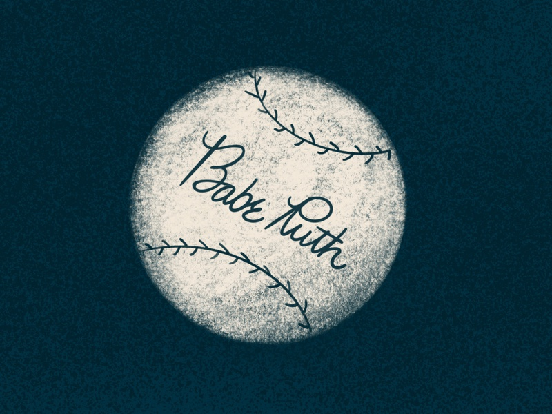 The Sandlot illustration retro texture baseball babe ruth the sandlot dribbleweeklywarmup