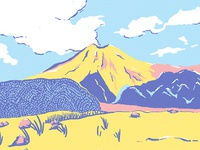 Volcanoe Merapi Dribbble
