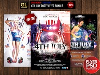 4th July Party Flyer Bundle 3 in one