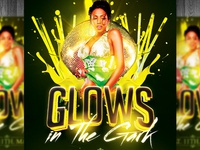 Glows in the Dark Party Flyer PSD
