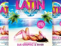 Latin Saturdays Flyer Template