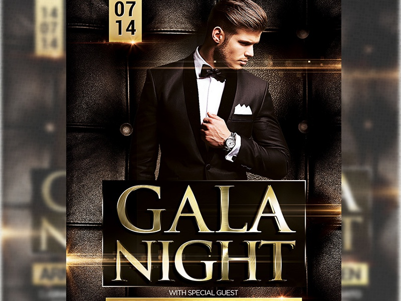 Gala night flyer template ad by grandelelo dribbble pronofoot35fo Gallery