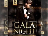 Gala Night Flyer Template Ad