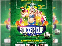 Soccer Cup The After Party Flyer Template PSD