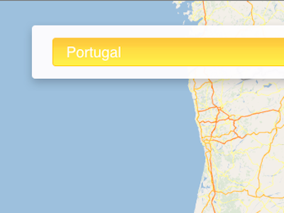 Location Search Overlay google maps v3 css3 css overlay html5 awesomeness yellow