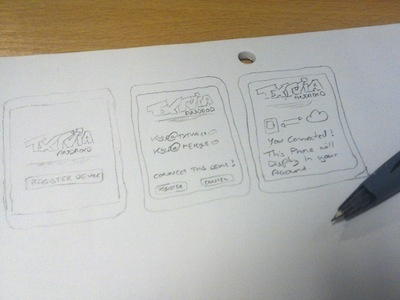 TxtVia android UI drawings. drawings ui sms