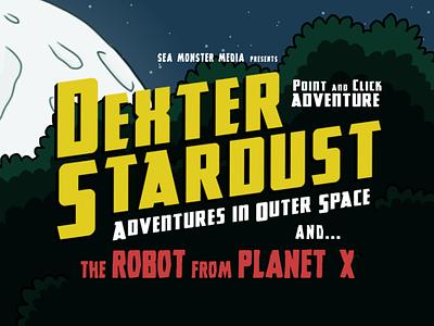 Dexter Stardust Logo illustration scifi pointandclick indie game adventure logo