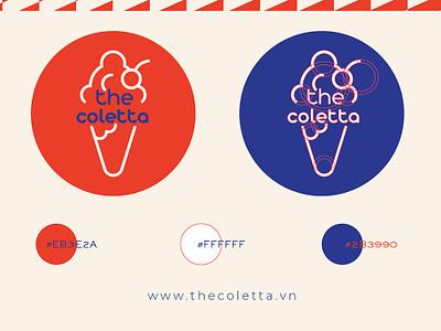 The Coletta Ice Cream design branding icon logo