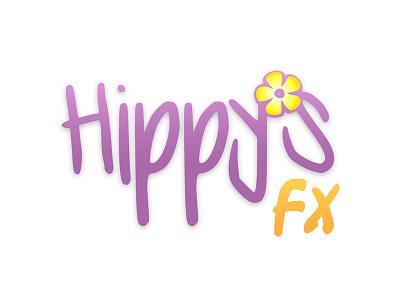 Hippy's FX Logo flower painting face branding logo fx hippys