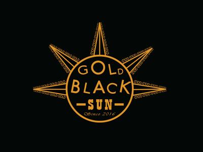 Gold Black Sun illustration