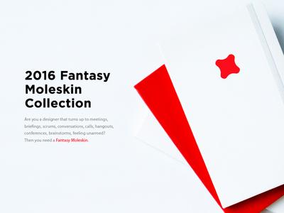 Do you need a Fantasy Moleskine? moleskine brand logo branding handmade book designer 2016 fantasy