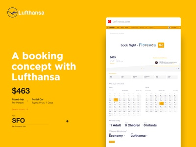 Lufthansa.com (concept) form brand branding ux white clean site web travel lufthansa flights booking