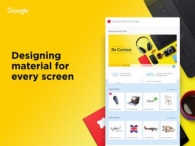 Evolving Material Design colors boards landing web site design process google designing material design design material