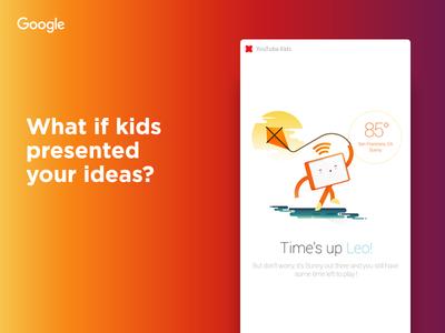 Kids present design ideas  branding ui product app google youtube presentation ideas design kids