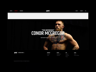 UFC Ecosystem fantasy ui design athlete fighters multiplatform product sport ecosystem design ux ui ufc