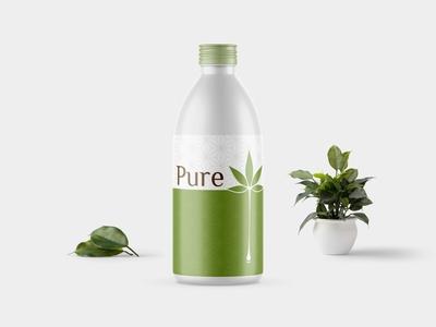 Pure Oil Bottle Mockup  2019