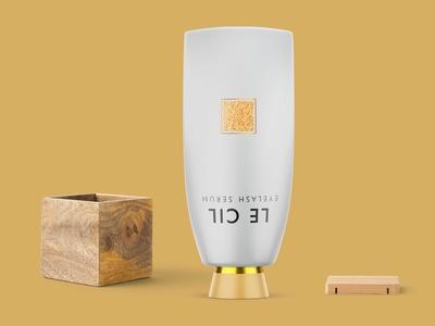 Awesome Gold Bottle Label Mockup