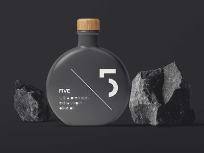 Virgin Oil Bottle Mockup