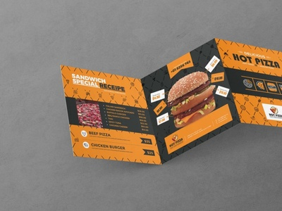 Z-Fold Trifold Menu Design Template