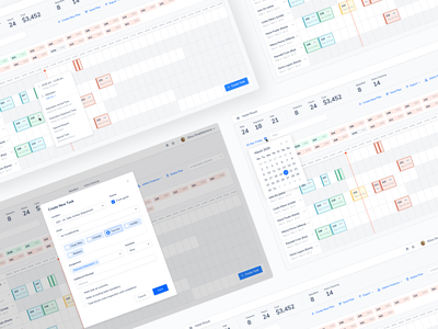 Room Checking — Hotel Management App hotel app hotel management booking calender light mode timeline management app management system shedule dashboad product design ux ui