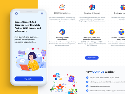 Landing Page — Mobile & Desktop ux ui product design portfolio mobile marketing landing page design landing page illustration home page design branding agency