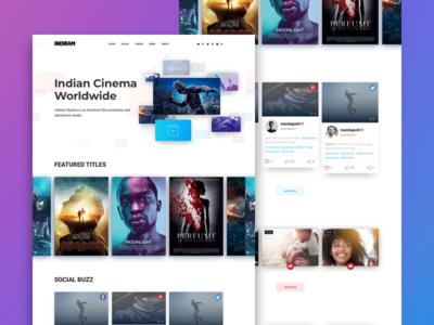 UI Landing Page Video Films