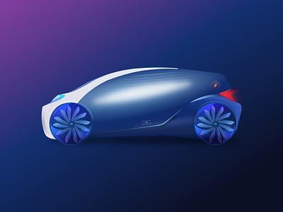 PHEV Car illustration for project. uidesign uix sketch illustration car ui